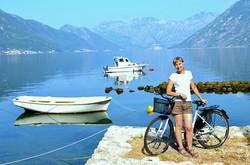 biking around Kotor is easy & fun