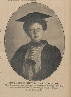 Elizabeth Bannester Newspaper entry