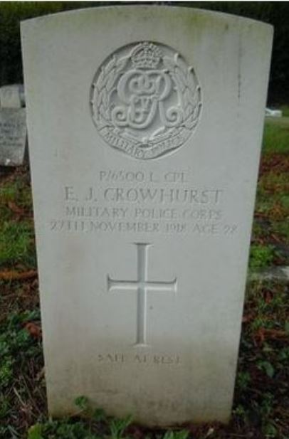 Edgar Crowhurst Memorial Photo