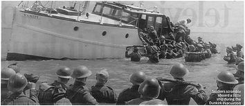 Soldiers Scramble Aboard Little Ship At