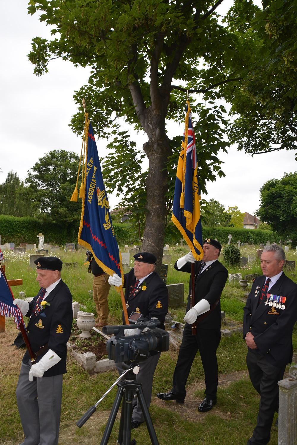 Royal Artillery Association Parade at Poppy Dedication