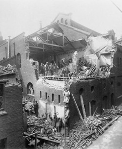 Bomb damage at st-pancras 1917