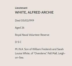Alfred White CWGC 4