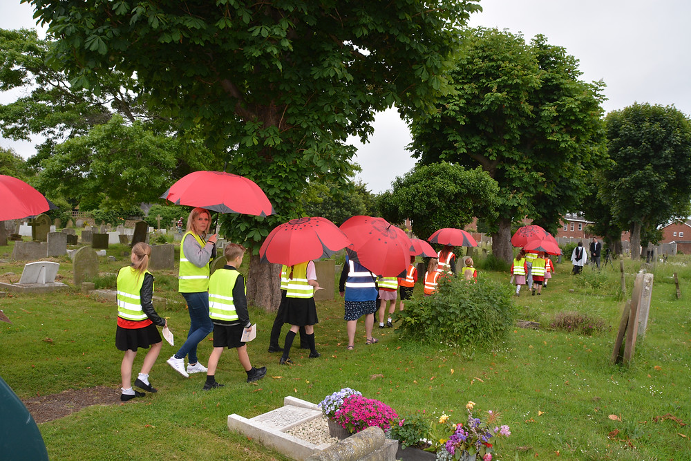 Walking poppies in St Andrews Shoeburyness