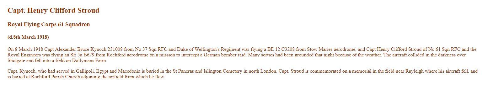 Captain Henry Stroud Accident Report