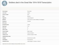 Paul Hilleard army death record