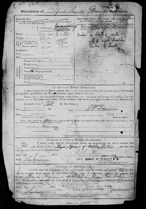Alfred Boswell Service Record 2