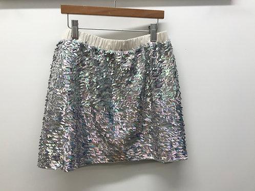 12 Y Crewcuts Girls Silver Skirt