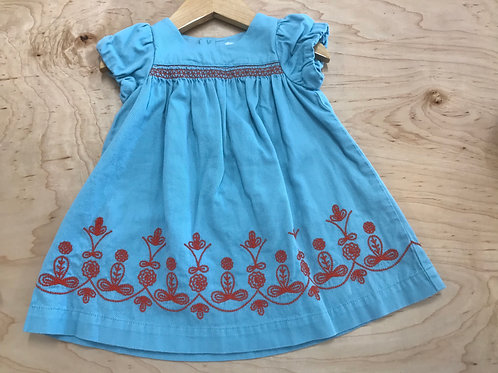 3-6 M Baby Boden Embroidered Dress