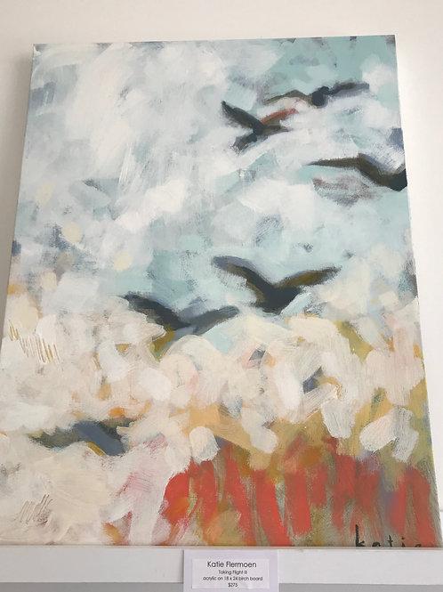 "Katie Flermoen- Taking Flight III 18"" x 24"""