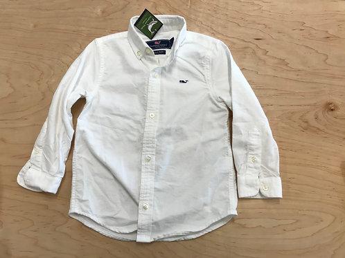 4 Y Vineyard Vines Boys White Whale Shirt Button Down