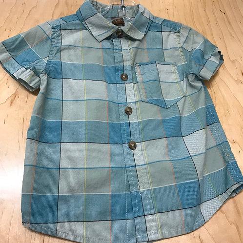 2 T Tea Collection Boys Short Sleeve Button Down