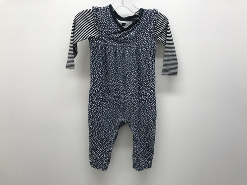 6-12 M Tea Collection Girls Navy One-Piece