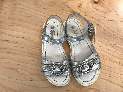7-7.5  Naturino Toddler Girls Silver Sandals