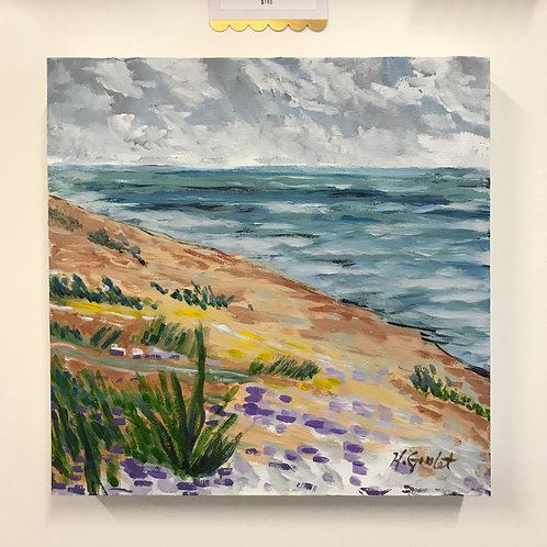 "Holly Goulet- Benona Township Park, Lake Michigan 12"" x 12"""