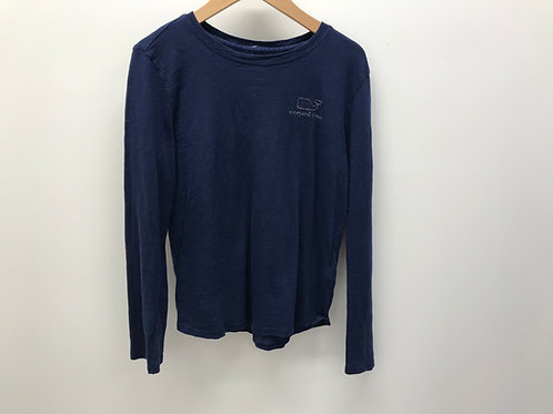 10/12 Vineyard Vines Girls Navy Long Sleeve T-Shirt