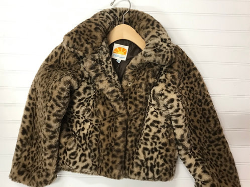 C&C California Faux Fur Jacket- Size 6 Y