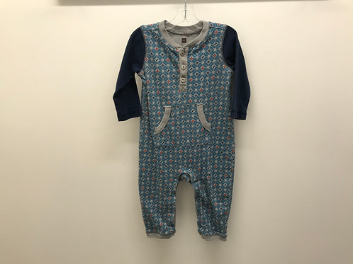 6-12 M Tea Collection Blue One-Piece