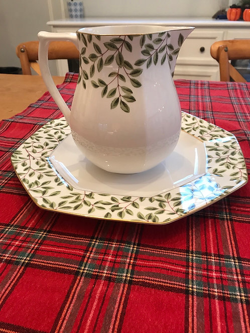Tiffany Arbor Pitcher & Platter by Tiffany & Co.