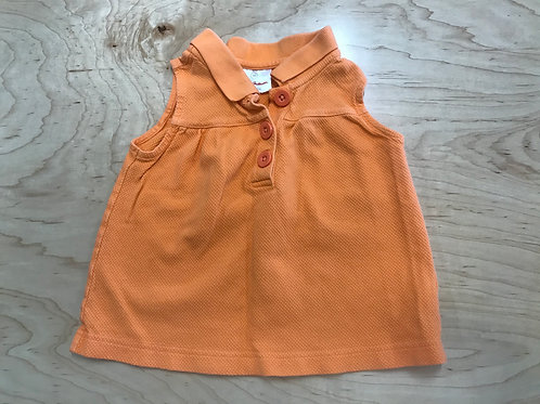 3 T Hanna Andersson Girls Orange Sleeveless Polo