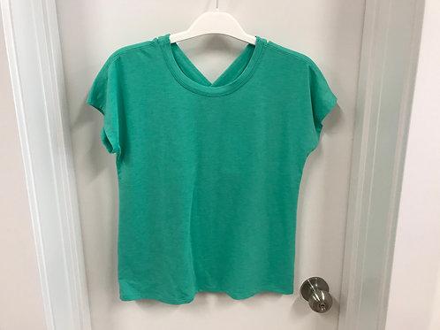 L (12) Athleta Girl Green Short Sleeve Top