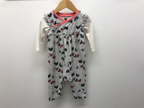 3-6 M Tea Collection Girls Long Sleeve One-Piece
