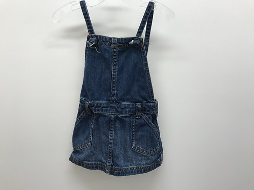 12-18 M Tea Collection Girls Overall Denim Dress