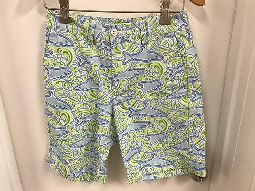10 Y Vineyard Vines Girls Shark Print Shorts