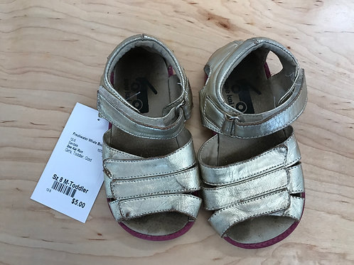 8 See Kai Run Toddler Girl Gold Sandals