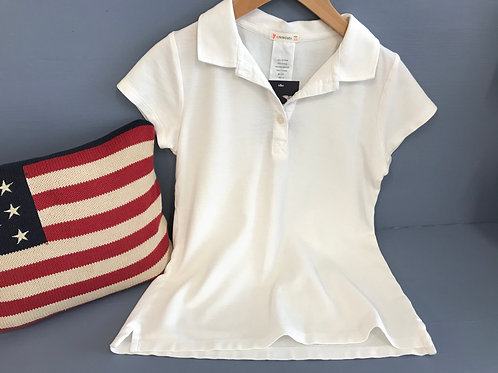 12   Y Crewcuts Girls White Polo