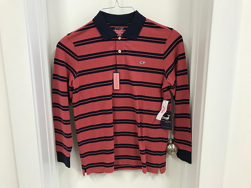 L (16-18) Vineyard Vines Boys Long Sleeve Polo