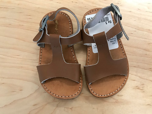 5 Toddler Girl/Boy Freshly Picked Brown Leather Sandals