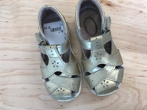 7 Stride Rite Toddler Girl Gold Sandals