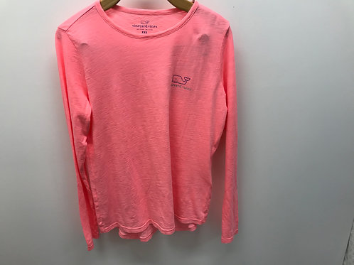 Women's XXS Vineyard Vines Pink Long Sleeve T-Shirt