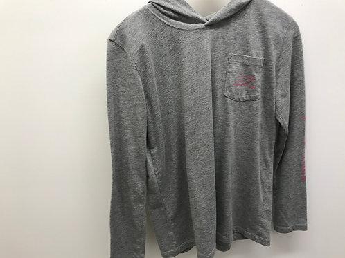 L (14) Vineyard Vines Girls Grey Hoodie Long Sleeve T-Shirt