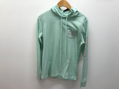 Women's XXS Vineyard Vines Green Hoodie Long Sleeve T-Shirt