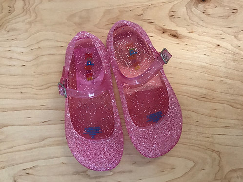 9 Toddler Girl Kidgets Opaque Pink w/ Sparkles Mary Janes
