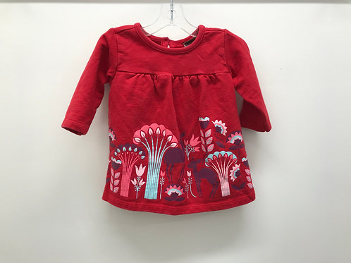 3-6 M Tea Collection Girls Red Dress
