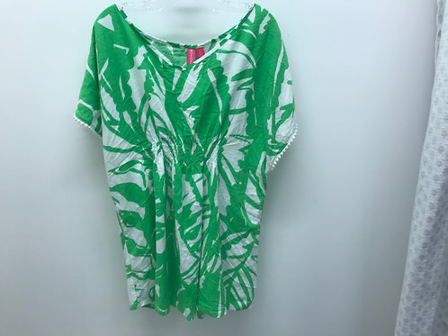 14/16 Lilly Pulitzer Girls Green Blouse/Swim Cover-up