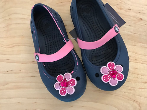 8 M Crocs Toddler Girl Navy Mary Janes