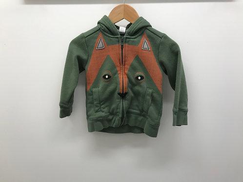 18-24 M Tea Collection Boys Full-Zip Fox Hooded Sweatshirt