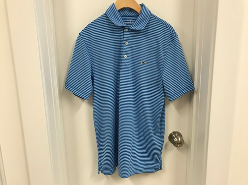 Men's S Vineyard Vines Blue Slim Fit Polo