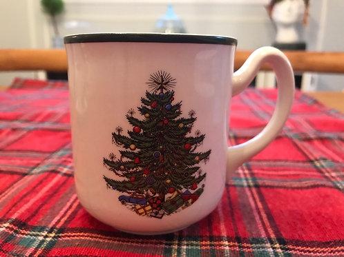 Cuthbertson Original Christmas Tree Mug (Narrow Green Band)