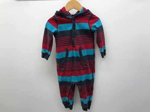 6-12 M Tea Collection Boys Hooded One-Piece