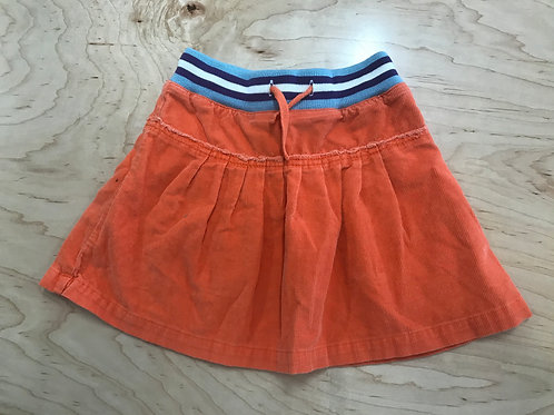 3-4 Y mini Boden Girls Orange Corduroy Skirt
