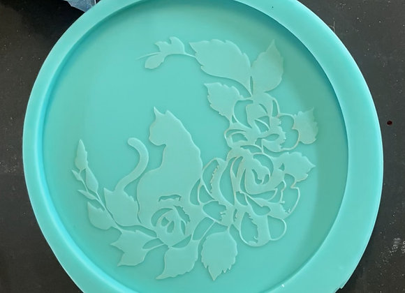 Floral Cat Mold
