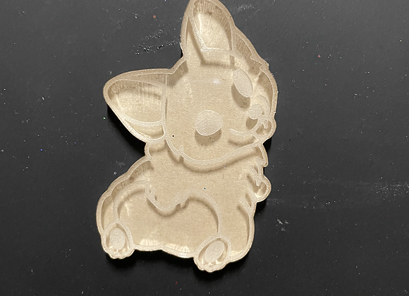 Corgi Butt silicone mold