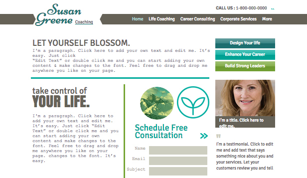 Wellness website templates – Life Coach