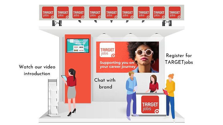 Target Jobs booth