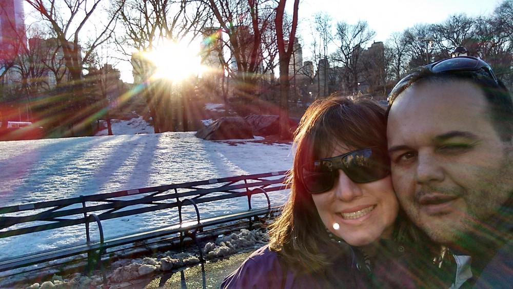 Central Park (NYC) Coberto de Neve em Março de 2015